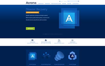 Reference Acronis webové stránky