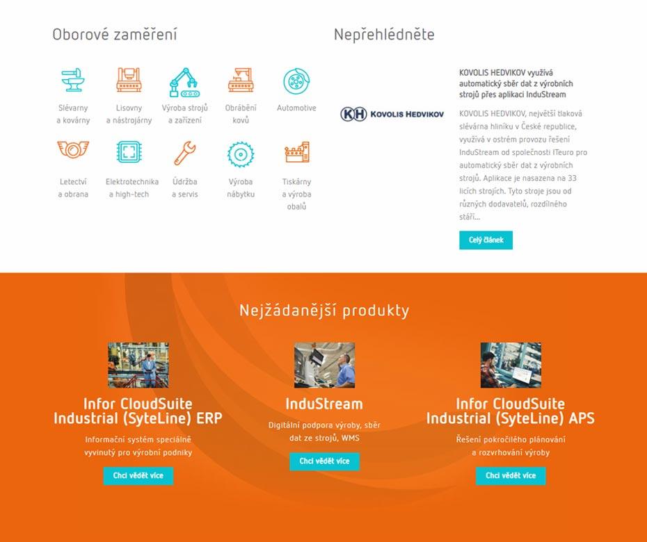 Detail webu Iteuro