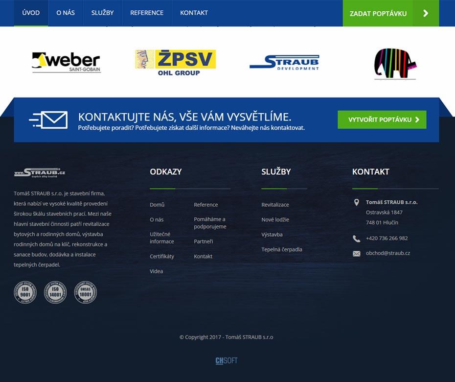 Zápatí webu Straub