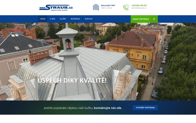 Straub.cz website