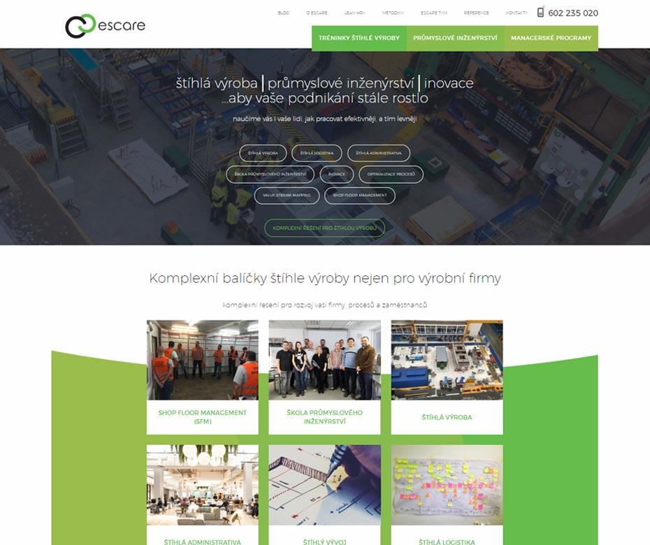 Záhlaví webu Escare
